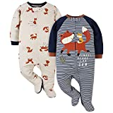 Gerber Baby Boys' 2-Pack Sleep 'N Play, Blue Fox, 6-9 Months