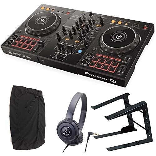 Pioneer DJ パイオニア DDJ-400 DJコントローラー + ヘッドホン + スタンド + ダストカバー DJセット 《ステッカー&教則動画付き》 pcdj ddj