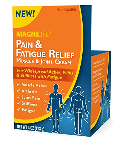 MagniLife Pain & Fatigue Relief Cream Fast-Acting Natural Homeopathic Topical Targets Muscle Aches, Soreness, Joint Pain, Stiffness & Fatigue - Soothing, Quick Absorption - 4oz