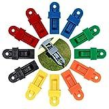 ISIYINER Clip de Tienda de Campaña de Plástico de Tarp Clips Multifuncional Clips de Toldo para Tiendas de Campaña para Actividades Al Aire Libre, Camping, Granja, Jardín 12 Piezas (Multicolor)