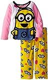 Despicable Me Little Girls' Fleece Pajama Set, Multi, 4