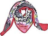 sciarpa triangolare satin rossa a fantasia