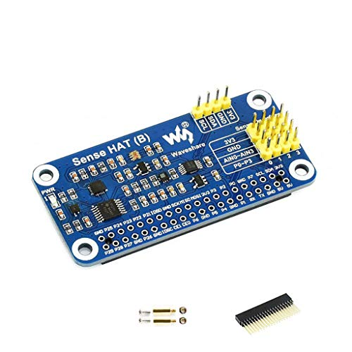 Coolwell Waveshare Sense Hat (B) for Raspberry Pi Onboard Multi Powerful Sensors Supports External Sensors I2C Interface for Collect Temperature, Humidity, Barometric Pressure Data