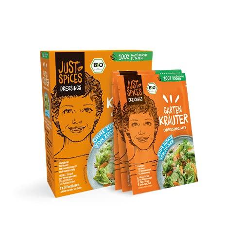 Just Spices Bio Garten Kräuter Dressing Mix I Einfach, Lecker, Schnell I 100% Natürliche Zutaten & 100% BIO I 30 Stück Vorteilspack