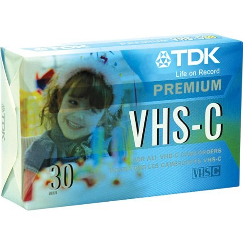 Check Out This TDK VHS-C Premium Camcorder Tape, 30 Minutes, 3-Pack of Tapes