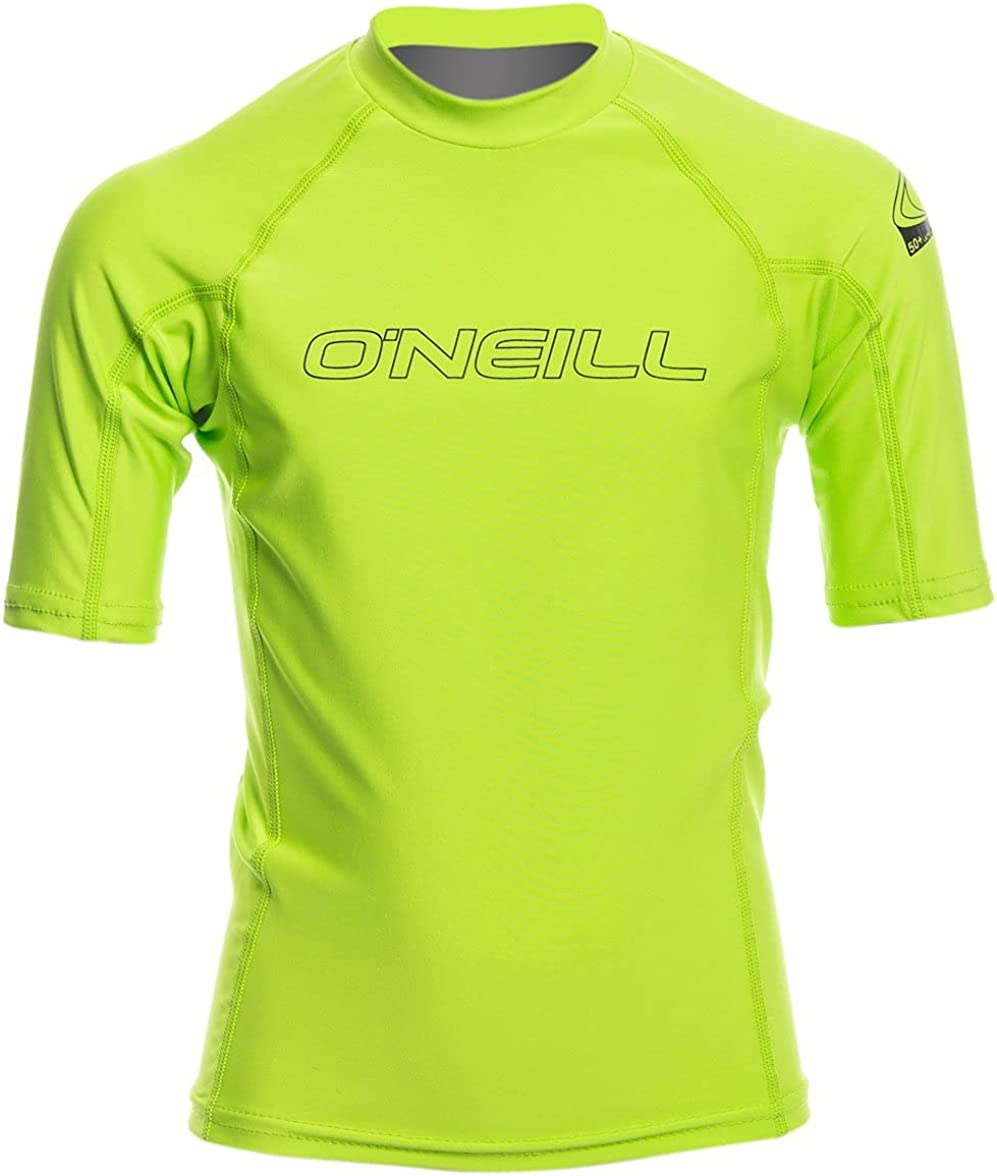 Oneill Skins Hyperfreak Short Sleeve Lime Small
