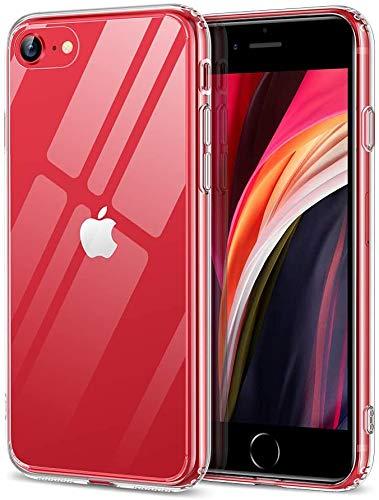 ESR Cover Compatibile con iPhone Se 2020,8, Retro in Vetro Temperato Anti Graffio E Ingiallimento Custodia Protettiva Antiurto, Chiaro