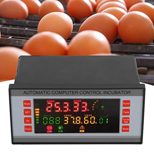 Gaorgas Incubadora WiFi de 220 V con un botón, Controlador multifunción de Temperatura y Humedad, volteo automático de Huevos controlado por microordenador