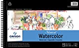 Canson Montval Watercolor Pad, Cold Press Acid Free French Paper, Side Wire Bound, 140 Pound, 10 x 15 Inch, 12 Sheets, 10