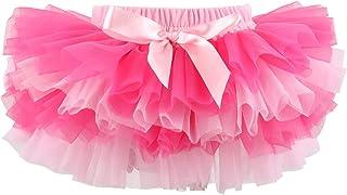 Slowera Baby Girls Soft Tutu Skirt (Skorts) 0 to 36 Months (M: 6-12 Months, Hot Pink Pink)