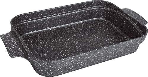 Kamberg 0008058 - Bandeja para lasañas, 36 x 27,5 x 7 cm, aluminio fundido, revestimiento de piedra, para todo tipo de cocinas, incluso inducción, sin PFOA