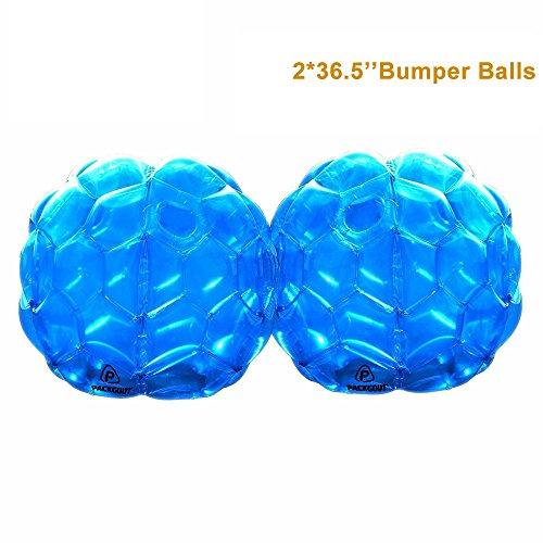 PACKGOUT Bumper Balls, Inflatable Body Bubble Ball Sumo Bumper Bopper Toys for Kids & Adults 36.5', 2 Balls