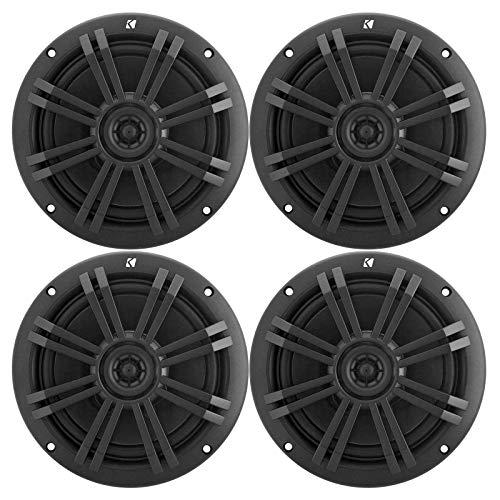 KICKER Black OEM Replacement Marine 6.5' 4 Ohm Coaxial Speaker Bundle - 4 Speakers