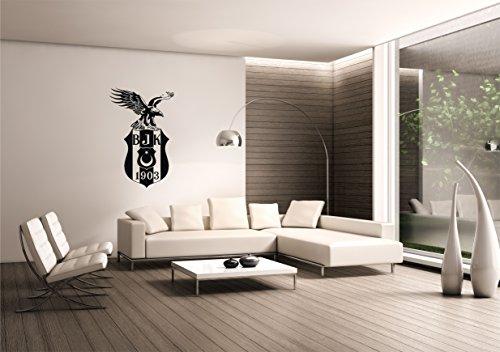 Saphir Design Wandtattoo Besiktas mit Kartal WT13 (Schwarz Matt, 60x95cm)