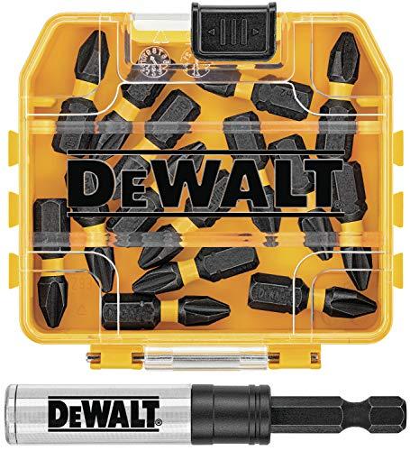 DEWALT FlexTorq - Juego de puntas de destornillador de impacto, Phillips, 1/4 pulgadas x 1 pulgada, 15 piezas (DWA3HLD1PH2-15)