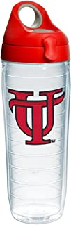 Tervis Tampa Spartans Logo Insulated Tumbler with Emblem and Red with Gray Lid, 24oz Water Bottle, Clear