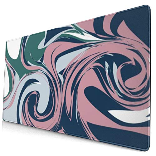 YGVDSE Non Slip Mousepad Colorful Marble Texture 40 X 75 Cmsoft Cloth Gaming Mouse Pad with Smooth Non Slip Base