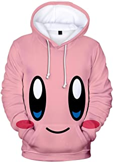 Kirby Pullover Kids Lovely Hooded Sweatshirt Children Casual Tops Printing Hoodie Pullover Girls