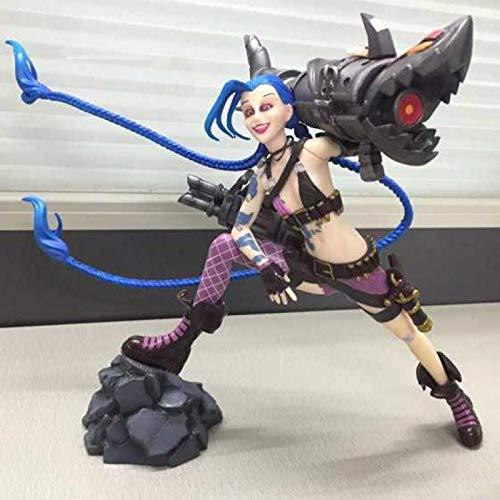 League of Legends Jinx Figura De Acción Estática Decoración De Anime LOL Jinx Figuras De PVC Colección De Juguetes 28X12X31Cm Peso 2000G
