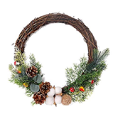 AMOYEE Artificial Natural Rattan Wreath,Adjustable Silk Flower Garland Home Festival Wedding Decoration Background Create Atmosphere Halloween Christmas Garland