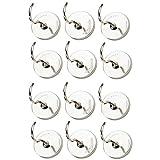 10piezas ganchos magnéticos–11⁄ 2inch Heavy Duty gancho para colgar chapado en níquel para hogar, cocina, talleres, cochera, herramientas, ropa, bolsos, chaquetas, decoración,...