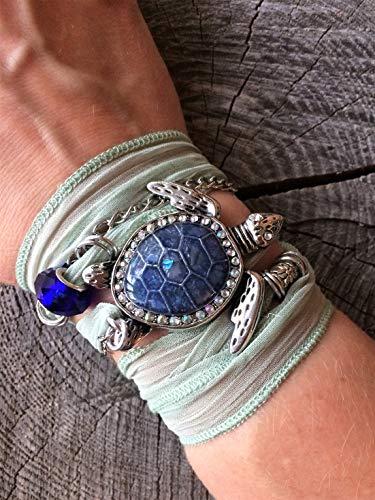 HANO Turtle Lovers Wrap Bracelet, Beach Bracelet for Women, Sea Turtle Bracelet for Women