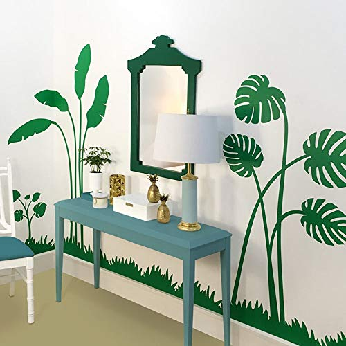 Large Boho Palm Leaf Nature Wall Sticker Bedroom Kitchen Banana Leaf Palm and Monstera Leaves Wall Decal Kids Room Vinyl