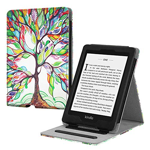 Fintie Flip Case for Kindle Paperwhite (Fits All-New 10th Generation 2018   All Paperwhite Generations) - Slim Fit Vertical Multi-Viewing Stand Cover with Auto Sleep Wake, Love Tree