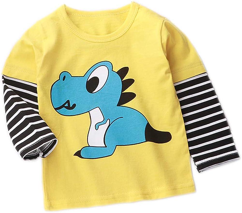 Ctskyte Little Girls Toddler Boys Unisex Long Sleeve Cotton T-Shirt Casual Tops Tee