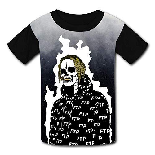 [Adam L] T Shirt Black Raglan T Shirts, UICIDE Boy FTP Short Sleeve Sports Sweat Tee for Teen Kids Boys Girls