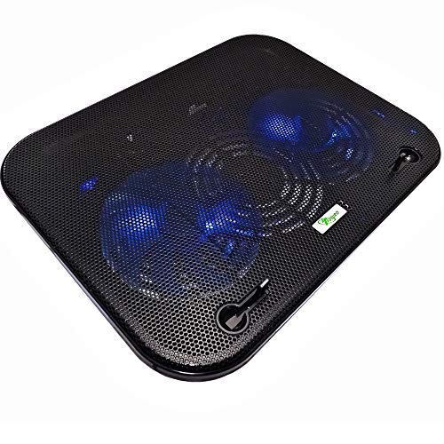 Lupex Shop TAVOLINO DISSIPATORE con 2 VENTOLE di Raffreddamento PC Portatile Notebook F-3