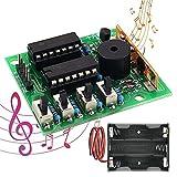Kit de Caja de Música Electrónica DIY Kit Seamuing de Placa de Circuito de Soldadura con Caja de Batería Kit de Aprendizaje de Práctica de Soldadura de Módulo de Sonido DIY 16