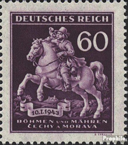Bohemen en Moravië Mi.-Aantal.: 113III (compleet.Kwestie.), Gat in de Zadeldek van Pfervan 1943 Dag de Stempel (Postzegels voor verzamelaars) paarden