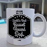 N\A Taza de Basset Hound Regalo de Basset Hound Basset Hound Mascota Basset Hound Papá Perro Perro Doggo Taza de Basset Hound Taza de café Doggo Amante de Basset Hound