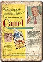 Camels Cigarette メタルポスター壁画ショップ看板ショップ看板表示板金属板ブリキ看板情報防水装飾レストラン日本食料品店カフェ旅行用品誕生日新年クリスマスパーティーギフト