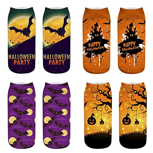 Gereton Casual 3D Printed Socken Halloween Horror Ghost Kürbis Licht 3D Printed Socken Halloween Neuheit Geschenk Socken Mode 3D Printed Socken