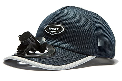 Niu Niu Fan Baseball Cap With USB Charging,Cooling Fan Hat With Adjustable Velcro,Adjustable Wind Speed,Perfect For Running,Workouts and Outdoor Activities (Blue)