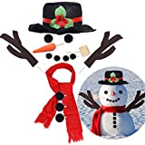 16Pcs Christmas Snowman Decorating Making Kit Outdoor Fun Christmas Winter Holiday Party Decoration Gift