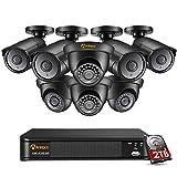 Anlapus Kit de Cámara de Vigilancia 8CH 4K H.265+ Grabador
