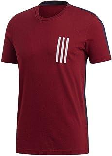 阿迪达斯运动 Id 3 条纹短袖男式衬衫,男式