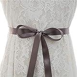 Yingm Cinturón De Boda Nupcial Banquete Party Dress Cinturón Hecho a Mano Rhinestone Applique Novia Cinturón Cinturón Apliques para Vestido de Noche (Color : Dark Gray, Size : 24.5cm x 9cm)