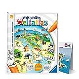 Collectix Ravensburger tiptoi ® Buch, Atlas   Mein großer Weltatlas + Kinder Wimmel Weltkarte - Länder, Tiere, Kontinente
