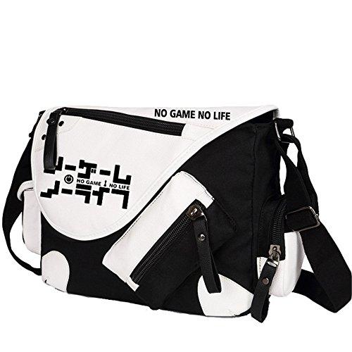 Siawasey, Handtasche / Umhängetasche / Messenger Bag, Motiv: japanischer Anime / Cosplay schwarz No Game No Life