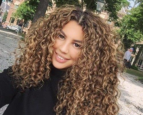 Curly Hair Extensions Clip in Human Hair Brown Highlights Blonde Clip in Extensions Natural Wavy Hair 100g 7pcs Clip in Hair Extensions Human Hair 20 Inch