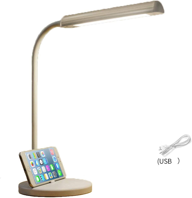 LED Tischlampe, flexible Tischlampe mit langem Arm 6W, 5 Farben, 5 Helligkeit, Touch-Steuerung, mit Lichtquelle (Farbe   A-6w)