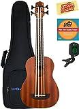 Kala U-Bass-WNDR-FS Wanderer Acoustic-Electric U-Bass Ukulele Bundle with Gig Bag, Tuner, Austin Bazaar Instructional DVD, and Polishing Cloth