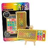 Rainbow High - Juego de Maquillaje para niños con Sombras de Ojos, Brillo de Labios, aplicador, Espejo y diseño de niña arcoíris