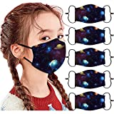 ZuzongYr 5 Stück Mundschutz Kinder Winddicht Schutzmaske Sandprävention Waschbar Stoffmaske Baumwolle Mund-Nasen Bedeckung Atmungsaktiv Halstuch Schals Jungen Mädchen Maske