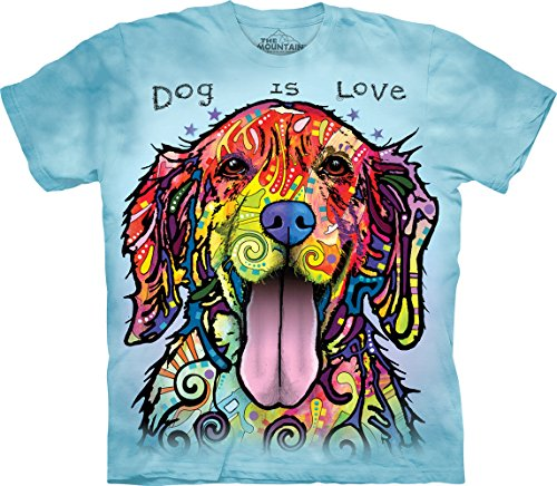 The Mountain Dog Is Love Adult T-Shirt, Blue, Large