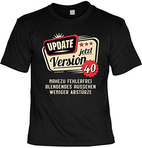 lustiges T-Shirt 40 Geburtstag 40 Jahre Leiberl Papa Geschenk zum 40 Geburtstag 40 Jahre Geburtstagsgeschenk 40-jähriger Update Version 40 Nahezu fehlerfrei (XXL, Jetzt 40)
